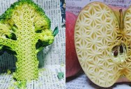 Guy Carves Crazy Patterns Into Fruits and Vegetables