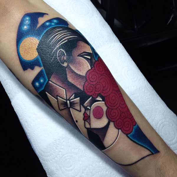 cubist tattoos by mike boyd 1 18 Awesome Abstract and Cubist Style Tattoos by Mike Boyd