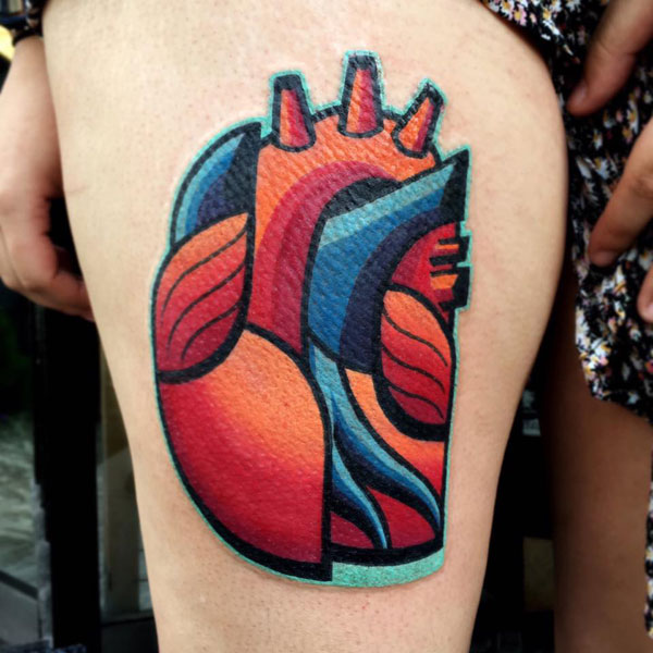 cubist tattoos by mike boyd 10 18 Awesome Abstract and Cubist Style Tattoos by Mike Boyd