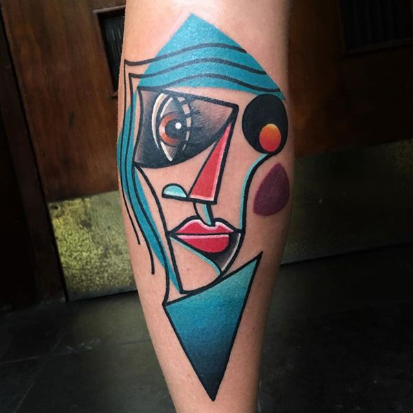 cubist tattoos by mike boyd 14 18 Awesome Abstract and Cubist Style Tattoos by Mike Boyd