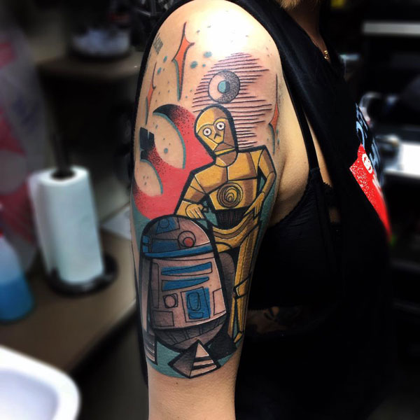 cubist tattoos by mike boyd 19 18 Awesome Abstract and Cubist Style Tattoos by Mike Boyd