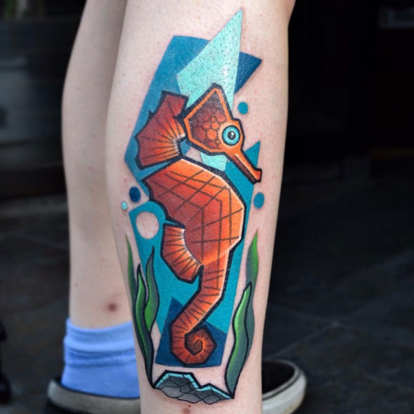 cubist tattoos by mike boyd 4 18 Awesome Abstract and Cubist Style Tattoos by Mike Boyd