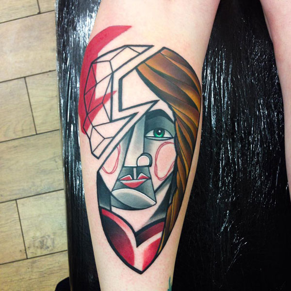cubist tattoos by mike boyd 7 18 Awesome Abstract and Cubist Style Tattoos by Mike Boyd