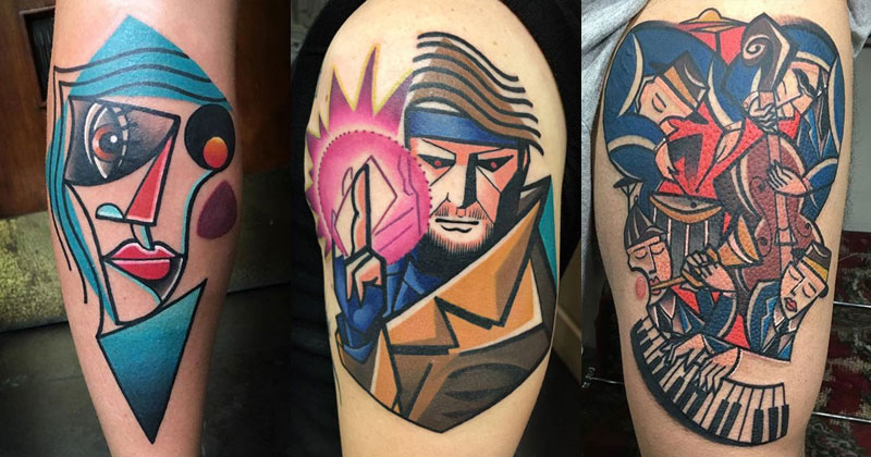cubist tattoos by mike boyd cover 18 Awesome Abstract and Cubist Style Tattoos by Mike Boyd