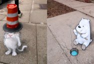 David Zinn Uses Chalk to Brighten People's Days