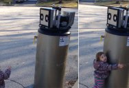 Little Girl Thinks Water Heater is a Robot, Melts Everyone's Heart in the Process