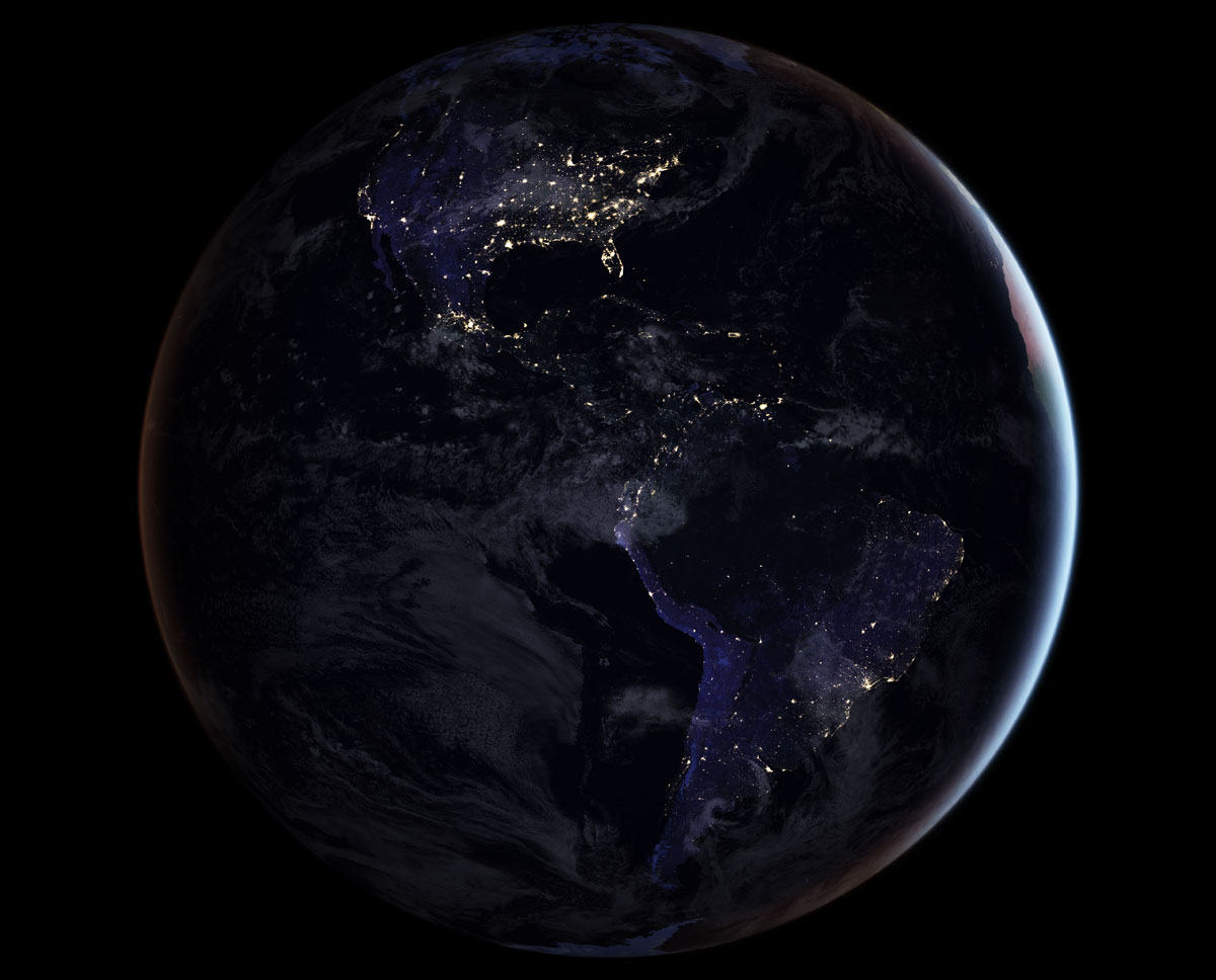 blackmarble 2016 americas composite NASA Releases Amazing New Photos of the World at Night
