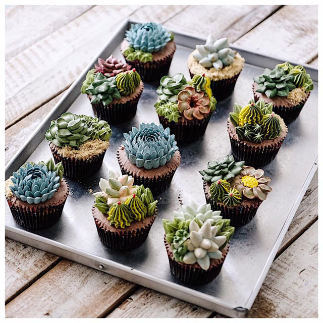 buttercream frosting plant cakes by ivenoven 6 These Plant Cakes Made with Buttercream Frosting Look Incredible