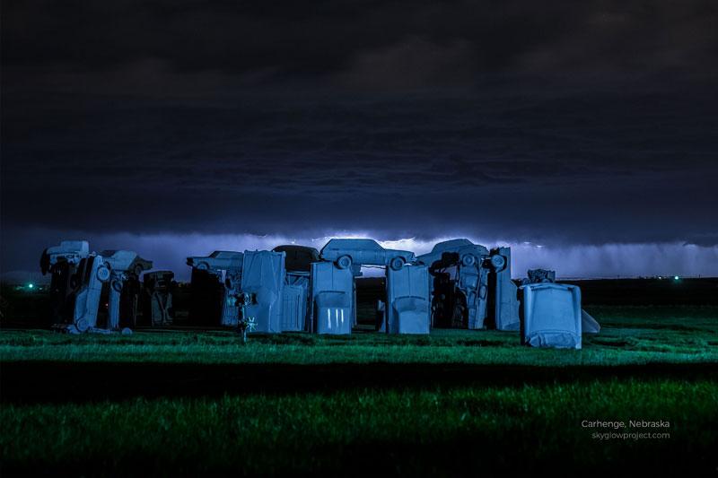 carhenge 3 skyglow desktop wallpapers In Search of Americas Darkest Skies (24 Photos)