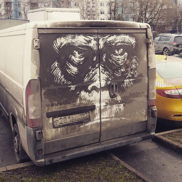 dirty car art by nikita golubev 6 Nikita Golubev Turns Dirty Cars Into Works of Art