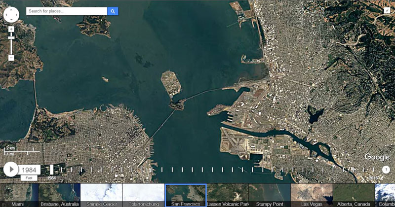 Google Earth Timelapse Lets You Explore the Globe and Watch It Change Over a 32 Year Span