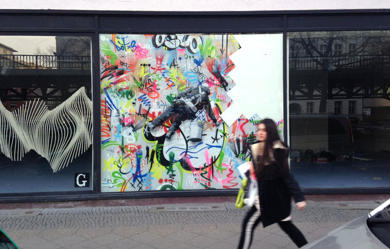 martin whatson street art 2 Artist Incorporates Grayscale Characters Into His Colorful Murals