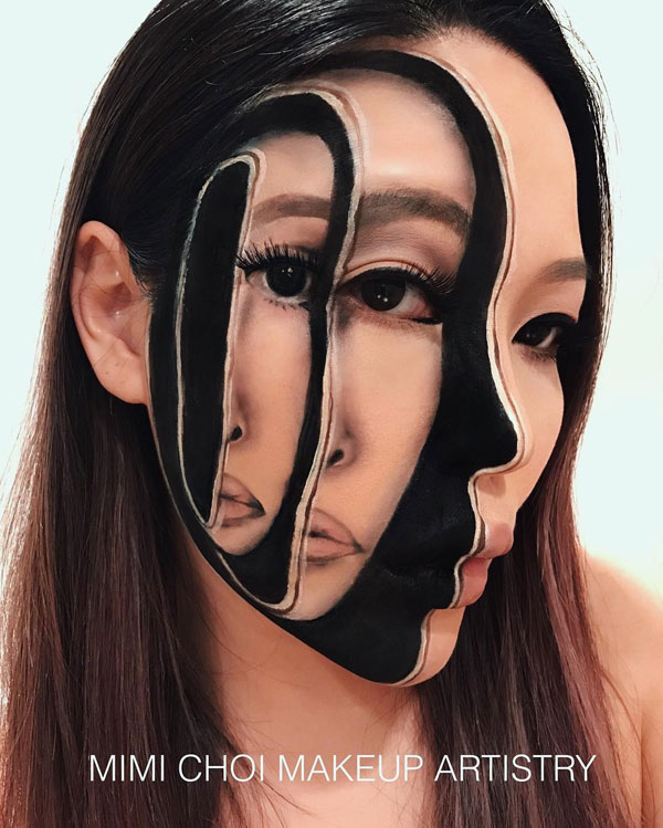 mimi choi mkeup artistry 12 This Makeup Artist Can Transform Her Face Into a Glitch in the Matrix