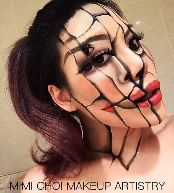 mimi choi mkeup artistry 14 This Makeup Artist Can Transform Her Face Into a Glitch in the Matrix