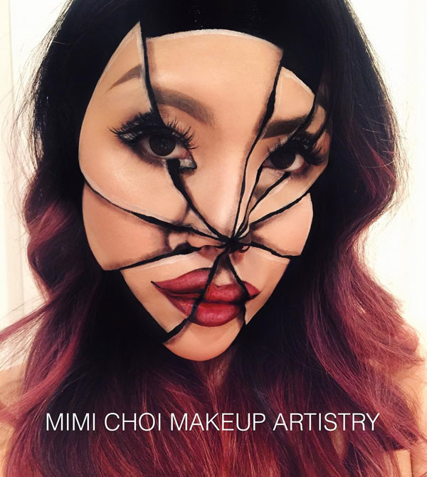 mimi choi mkeup artistry 3 This Makeup Artist Can Transform Her Face Into a Glitch in the Matrix
