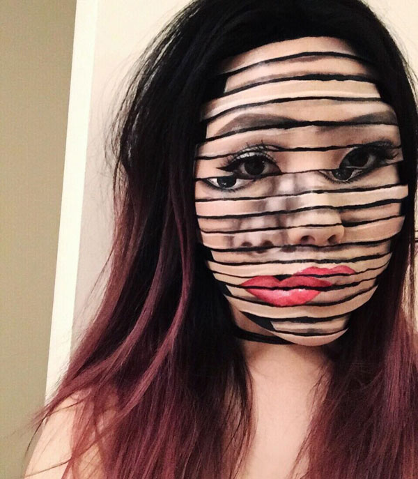 mimi choi mkeup artistry 5 This Makeup Artist Can Transform Her Face Into a Glitch in the Matrix