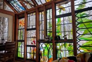 A Stained Glass Cabin in the Woods