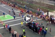 The Simple Technique at the Boston Marathon that Lets Pedestrians Cross the Street