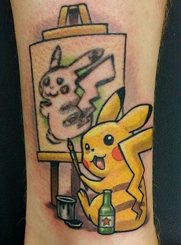 bad pikachu tattoo cover up 2 Best Tattoo Cover Up Ever