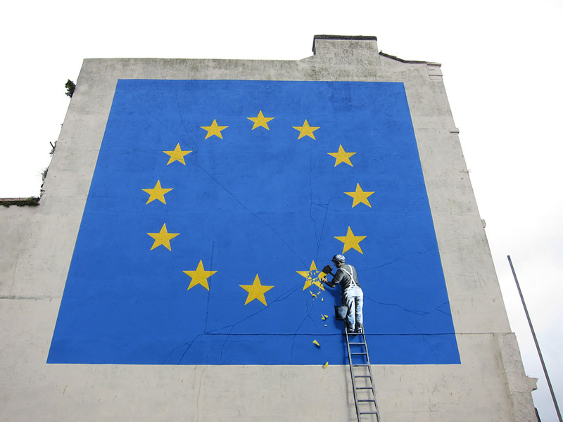 banksy brexit street art 2017 Picture of the Day: Banksy Brexit