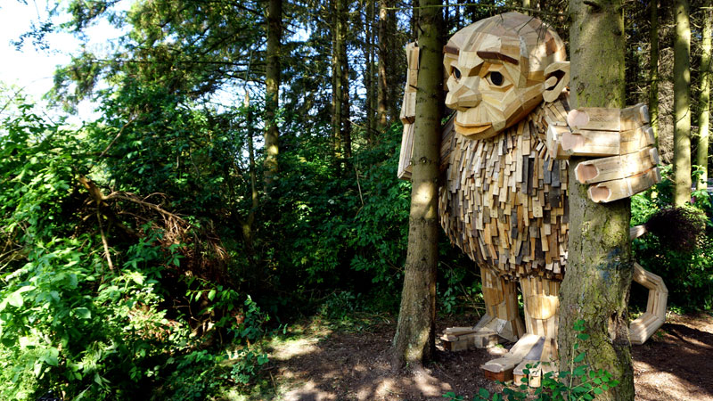 forgotten giants by thomas dambo 1 Artist Builds Forest Giants from Salvaged Materials and Hides Them in the Woods for People to Find