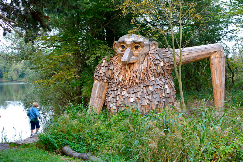 forgotten giants by thomas dambo 7 Artist Builds Forest Giants from Salvaged Materials and Hides Them in the Woods for People to Find