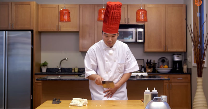 Hibachi Chef Tries To Make Meal On Regular Table