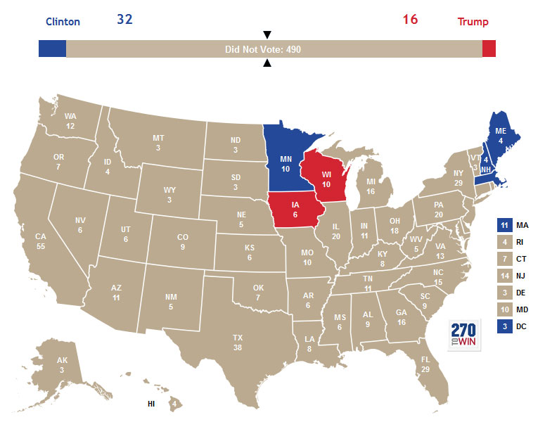 if did not vote was a candidate in the 2016 election map 8 Random Maps That Make You Go Hmmm