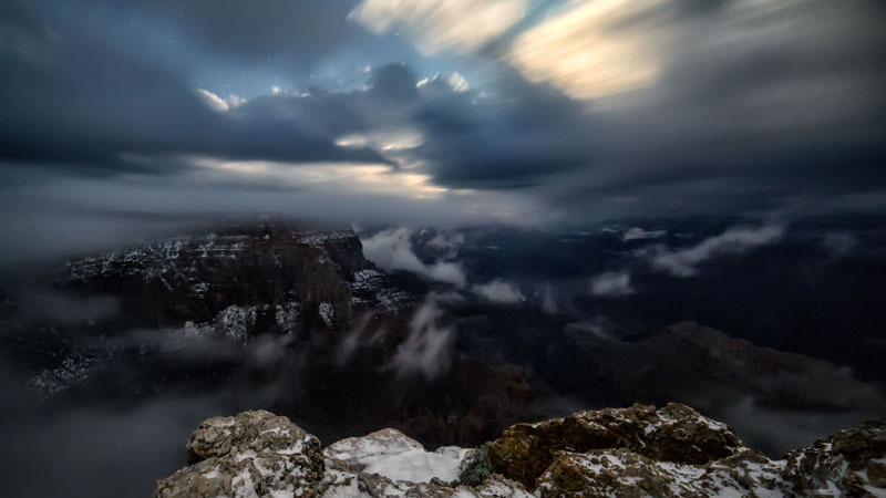 kaibab elegy skyglowproject harun mehmedinovic 10 There was a Full Cloud Inversion at the Grand Canyon and this Guy Got an Unreal Timelapse of It