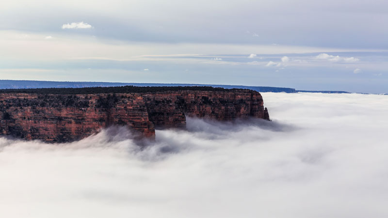 kaibab elegy skyglowproject harun mehmedinovic 12 There was a Full Cloud Inversion at the Grand Canyon and this Guy Got an Unreal Timelapse of It