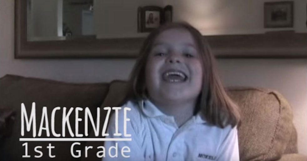 Dad Interviews Daughter on First Day of School from Grade 1 to Graduation