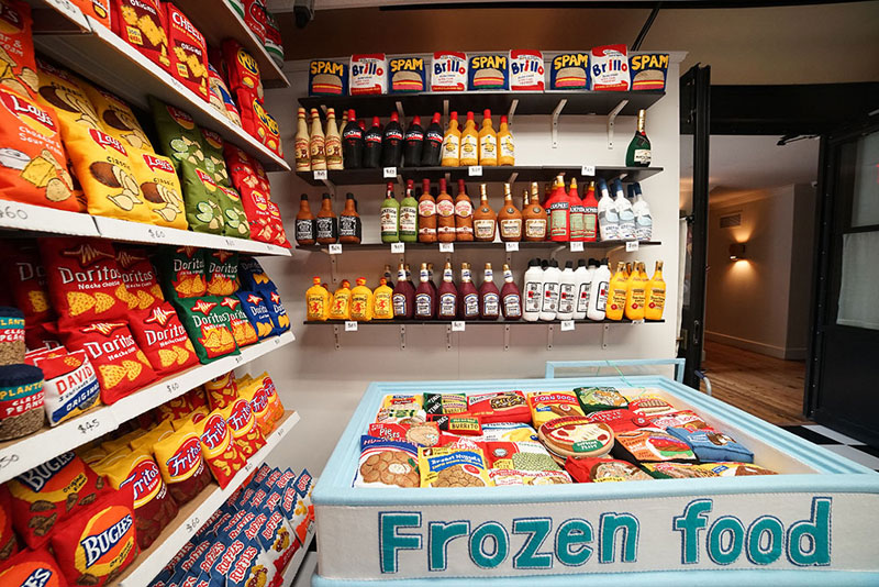 felt convenient store new york by lucy sparrow 1 Artist Opens Fauxdega in New York With 9,000 Felt Products and Its Already Sold Out