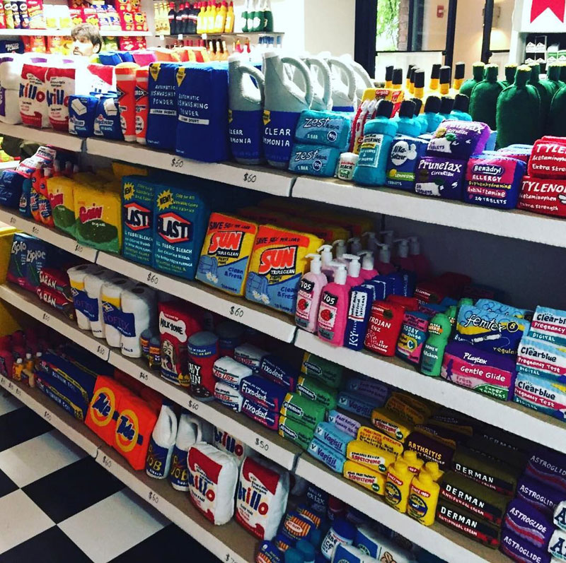 felt convenient store new york by lucy sparrow 13 Artist Opens Fauxdega in New York With 9,000 Felt Products and Its Already Sold Out