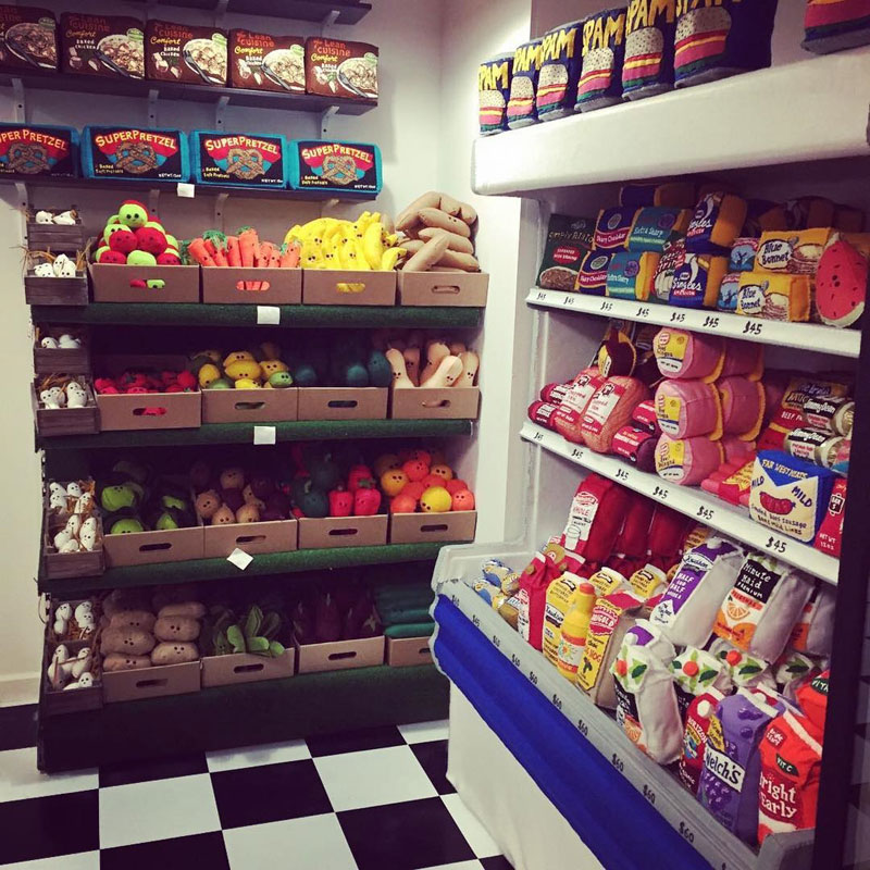 felt convenient store new york by lucy sparrow 14 Artist Opens Fauxdega in New York With 9,000 Felt Products and Its Already Sold Out