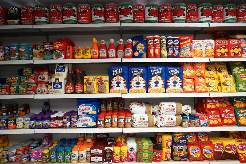 felt convenient store new york by lucy sparrow 16 Artist Opens Fauxdega in New York With 9,000 Felt Products and Its Already Sold Out