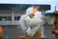 Firefighter Teaches Basics of Fire Behaviour Using Burning Doll House