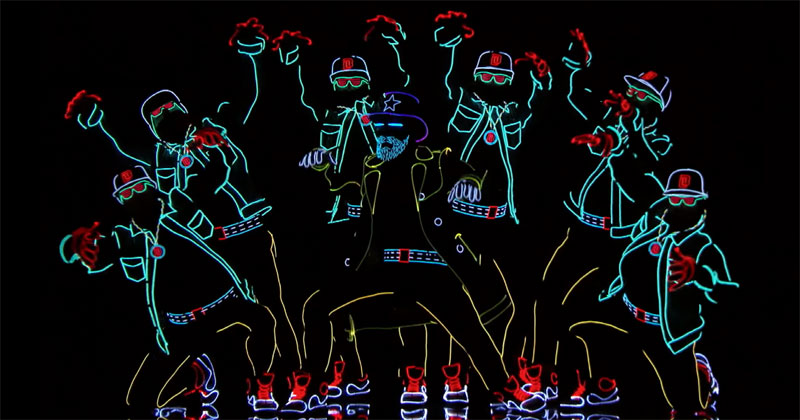 This Light Dance Performance is Simply Incredible