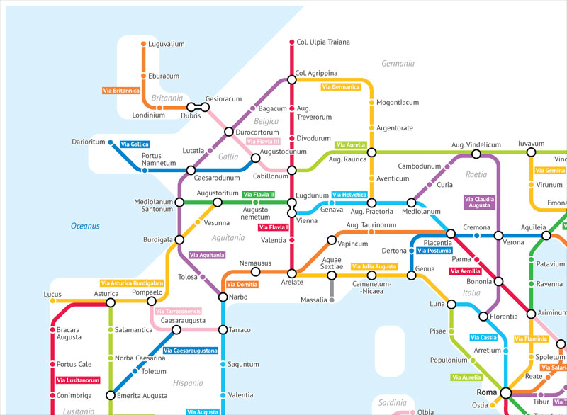 roman empire subway map by sasha trubetskoy 3 A Roman Empire Subway Map of their 250,000 Mile Road Network