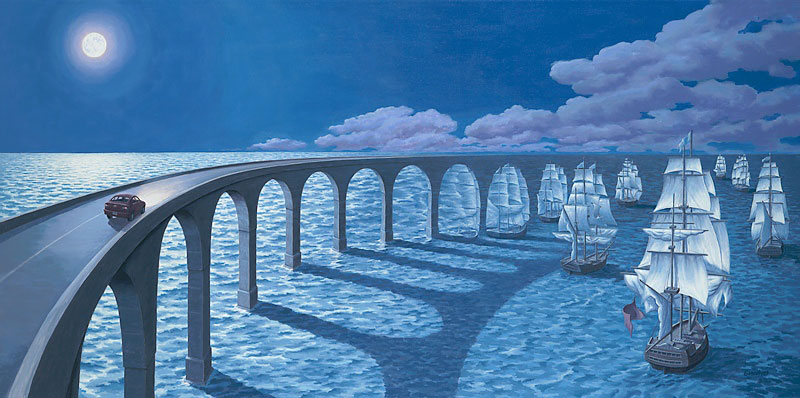 surreal paintings by rob gonsalves 12 12 Mind Bending Magic Realism Paintings by Rob Gonsalves