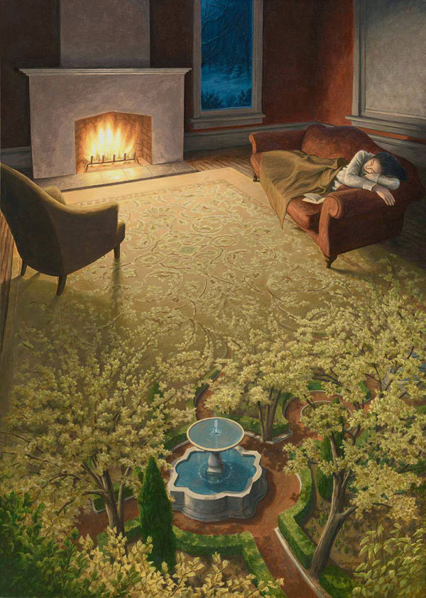 surreal paintings by rob gonsalves 6 12 Mind Bending Magic Realism Paintings by Rob Gonsalves