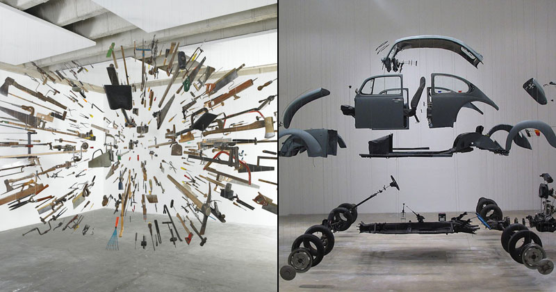 Suspended Deconstructions by Damián Ortega