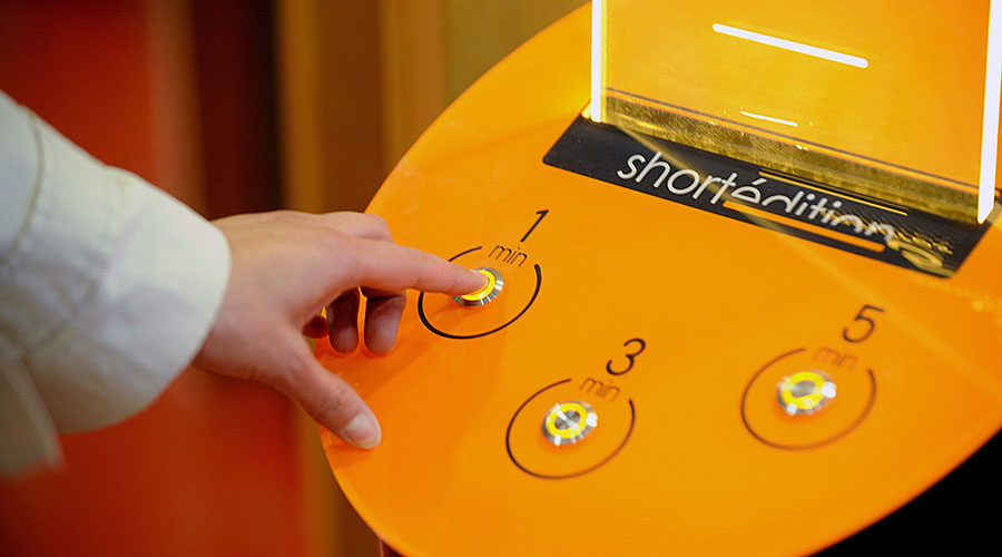 this machine prints free short stories for you to read while you wait 5 This Machine Prints Free Short Stories for You to Read While You Wait