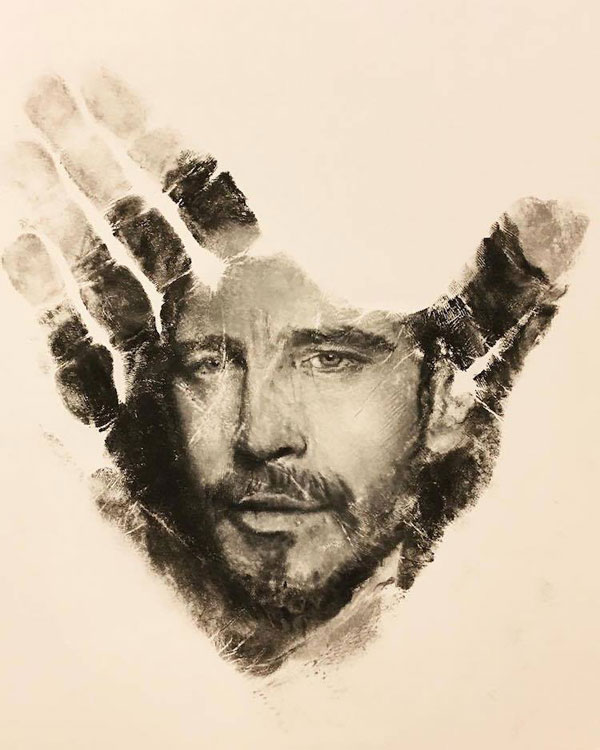 handprints by russell powell pangaen studios 1 Painter Uses Hand as Stamp in Creative Series of Handprints