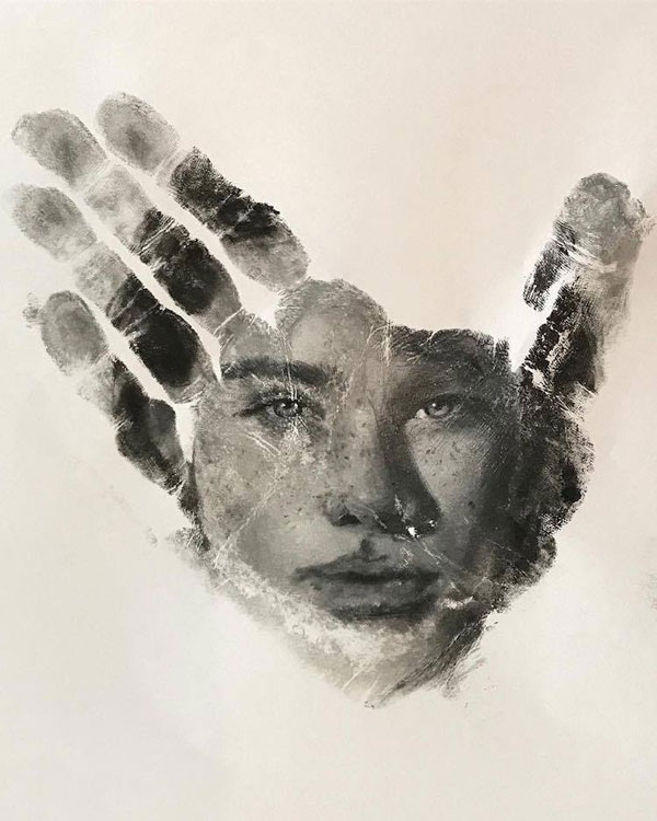 handprints by russell powell pangaen studios 2 Painter Uses Hand as Stamp in Creative Series of Handprints
