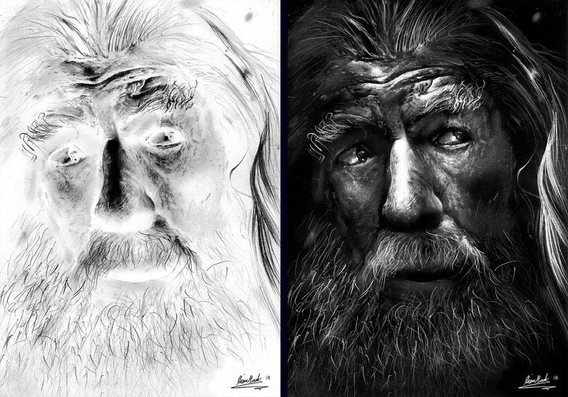 negative drawings by liam york 4 Trippy Negative Pencil Drawings by Liam York