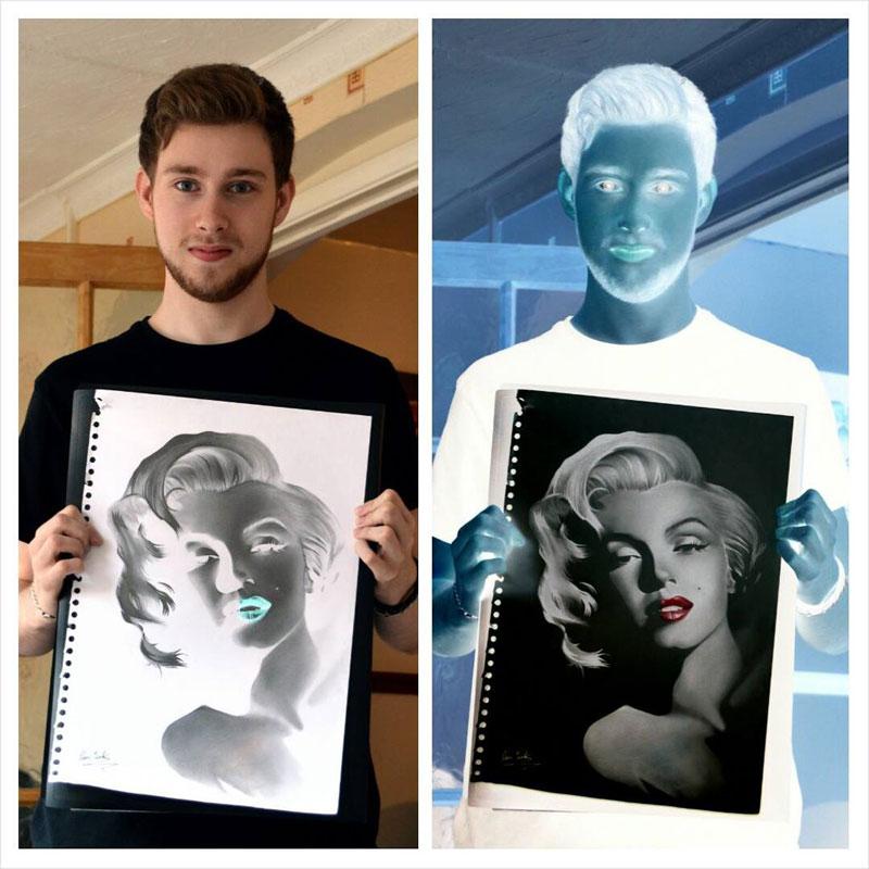 negative drawings by liam york 7 Trippy Negative Pencil Drawings by Liam York