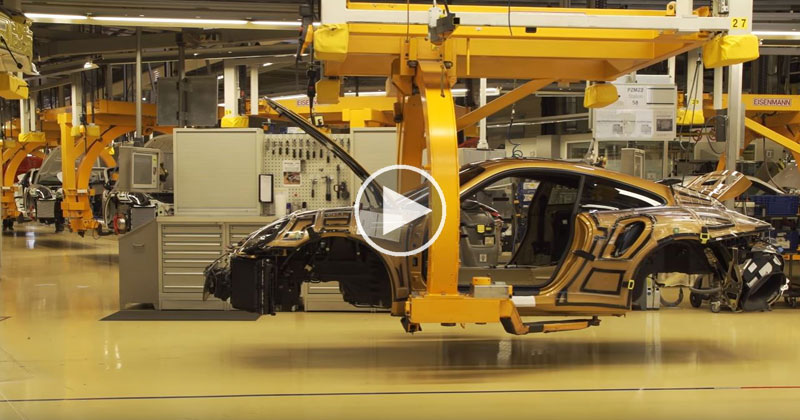 Porsche 911 Turbo S Exclusive Series Assembly Line