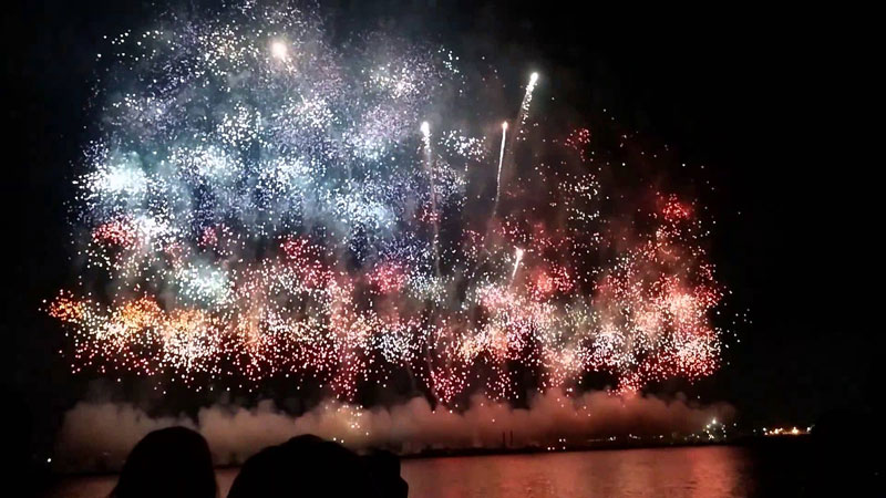 us american flag firework by grucci world record 2014 3 This World Record Fireworks Display Creates the American Flag