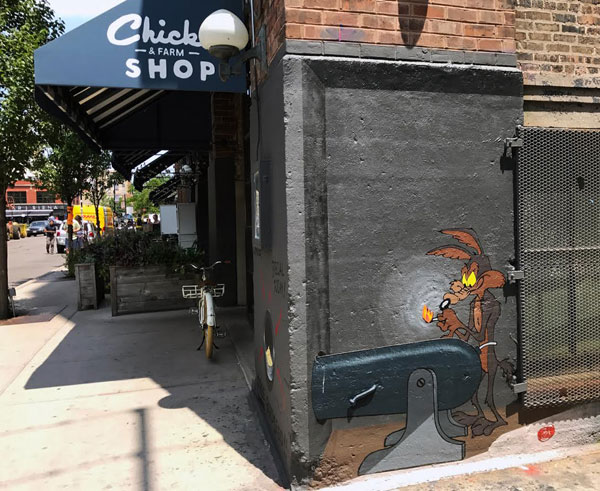 wile e coyote street art by e lee 4 This Wile E. Coyote Street Art is the Best Thing Youll See Today