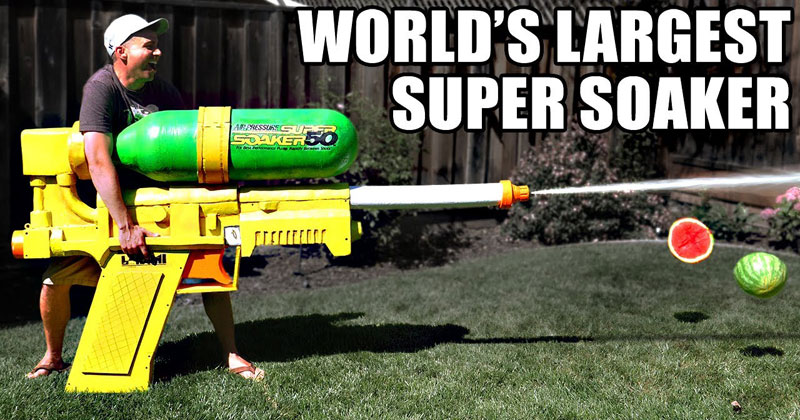 The World's Largest Super Soaker Shoots at 2,400 PSI and 243 mph